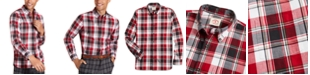 Brooks Brothers Men's Red Fleece Plaid Flannel Shirt