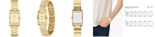 COACH Women's Allie Gold-Tone Bracelet Watch 19x22mm