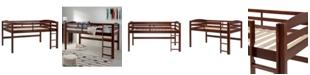 Walker Edison Solid Wood Low Loft Twin Bed