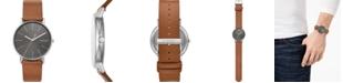 Skagen Men's Signatur Brown Leather Strap Watch 40mm