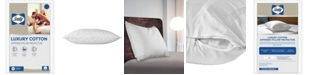 Sealy Luxury Cotton Zippered Pillow Protector, Standard/Queen
