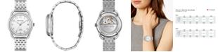 Bulova LIMITED EDITION Women's Swiss Automatic Joseph Bulova Stainless Steel Bracelet Watch 34.5mm