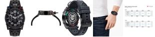 CT Scuderia Men's Swiss Chronograph Corsa Black Leather Strap Watch 44mm