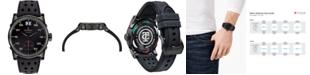 CT Scuderia Men's Swiss Testa Piatta Black Silicone Strap Watch 42mm