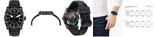 CT Scuderia Men's Swiss Automatic Coda Corto Black Leather Strap Watch 42mm