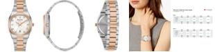 Bulova Women's Surveyor Diamond-Accent Two-Tone Stainless Steel Bracelet Watch 34mm, Created for Macy's