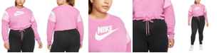 Nike Plus Size Contrast-Trim Sweatshirt