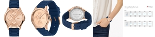 Lacoste Women's Swiss Florence Blue Silicone Strap Watch 40mm