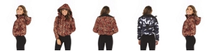 Therapy Ladies Women's Printed Hooded Puffer Coat