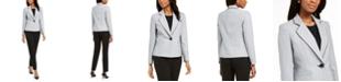 Le Suit Petite One-Button Notched-Collar Pant Suit