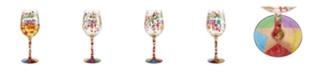 Enesco LOLITA Congratulations Wine Glass