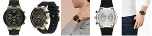 Movado Men's Swiss Chronograph BOLD Black Silicone Strap Watch 44mm