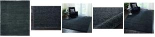 "Long Street Looms Cali Shag CAL01 Charcoal 7'10"" x 9'10"" Area Rug"