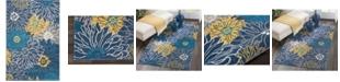"Long Street Looms Zeal ZEA17 Blue 3'9"" x 5'9"" Area Rug"