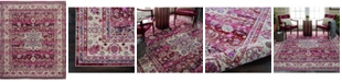 "Long Street Looms Era Tabriz ERA01 Red 8'10"" x 11'10"" Area Rug"