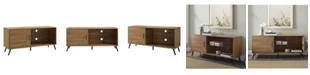 "Walker Edison 52"" Mid Century Modern Wood TV Stand"