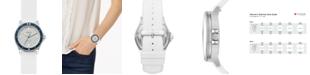 Skagen Women's Fisk White Silicone Strap Watch 38mm