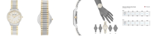 Anne Klein Women's Two-Tone Stainless Steel Stretch Bracelet Watch 34mm