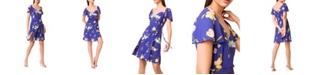 French Connection Eme Crepe Faux Wrap Dress