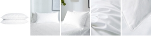 UNIKOME 2 Pack White Goose Feather & Down Bed Pillows, Queen Size
