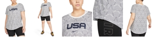 Nike Plus Size Printed Organic Cotton T-Shirt