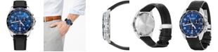 Victorinox Swiss Army Men's Chronograph FieldForce Classic Black Leather Strap Watch 42mm