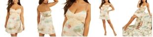 GUESS Bianca Printed Lace-Trim Mini Dress