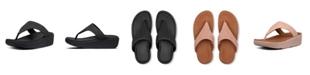 FitFlop Women's Imogen Basket Weave Toe-Thong Wedge Sandal