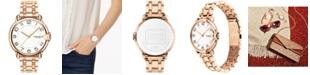 COACH Women's Arden Rose Gold-Plated Bracelet Watch 36mm
