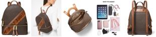 Michael Kors Rhea Zip Medium Signature Backpack