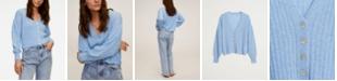 MANGO Women's Ribbed Knit Cardigan