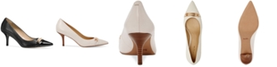 COACH Bowery Pointed-Toe Kitten Heel Pumps