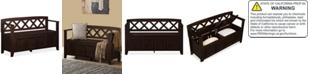 Furniture  Canton Entryway Storage Bench, Quick Ship