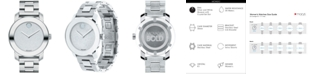 Movado Women's Swiss Bold Stainless Steel Bracelet Watch 36mm 3600334