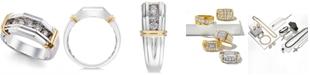 Macy's Men's Diamond Ring (1/2 ct. t.w.) in 10k Gold  and White Gold