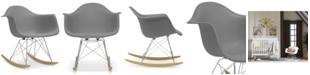 Furniture  Caden Mid-Century Modern Rocking Chair, Quick Ship