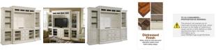 Furniture Sag Harbor White 4-Pc. Wall Unit (2 Bookcases, Entertainment Deck & Entertainment Console)