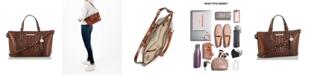 Brahmin Mini Asher Melbourne Embossed Leather Satchel