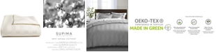 Charter Club  Ivory Stripe Twin Duvet Cover, 100% Supima Cotton 550 Thread Count, Created for Macy's