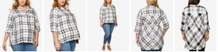 Motherhood Maternity Plus Size Plaid Shirt