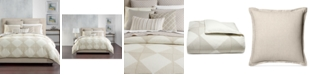 Hotel Collection CLOSEOUT! Cotton Diamond Embroidered Full/Queen Duvet Cover, Created for Macy's