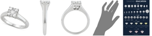 Macy's Diamond Square Cluster Diamond Enagement Ring (1/2 ct. t.w.) in 14k White Gold