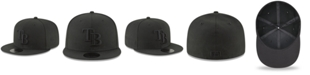 New Era Tampa Bay Rays Blackout 59FIFTY FITTED Cap