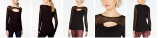 INC International Concepts INC Cutout Illusion Top, Created for Macy's