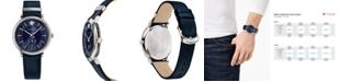 Versace Men's Swiss V-Circle Manifesto Edition Blue Leather Strap Watch 42mm