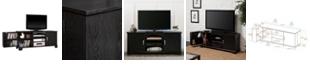 "Walker Edison 60"" Wood TV Media Stand Storage Console - Black"