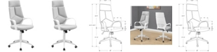 Monarch Specialties High Back Executive Office Chair in White