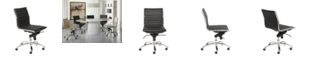 Euro Style Dirk Leather Office Chair