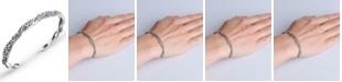 Carolyn Pollack Scroll Rope Narrow Cuff in Sterling Silver