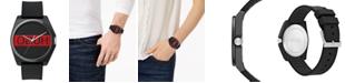 HUGO Unisex #Play Black Rubber Strap Watch 40mm
